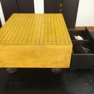 約15cm厚の碁石付き囲碁盤