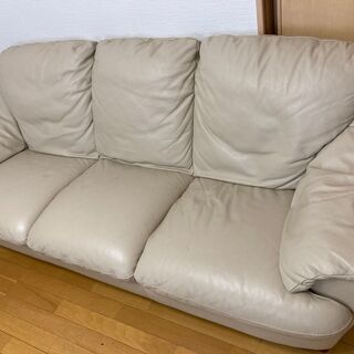 本革ソファをお譲りいたします