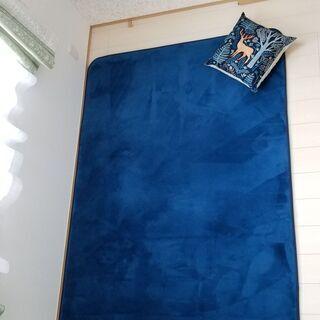 【低反発】マイクロファイバーラグ(ブルー)140×200cm