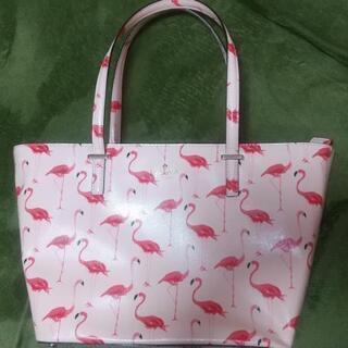 ケイトスペード フラミンゴ柄ハンドバッグ