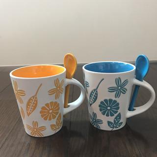 【ネット決済】スプーン付きマグカップ 2セット