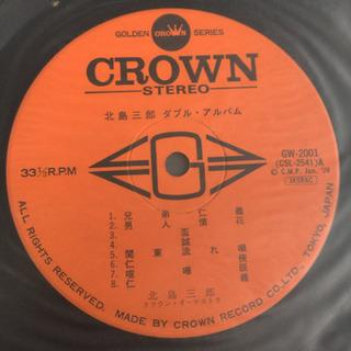 北島三郎 ダブル・アルバム LP レコード2枚組 - 本/CD/DVD