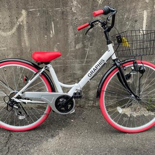 折り畳み自転車★26インチ・超美品★防犯登録料込の画像