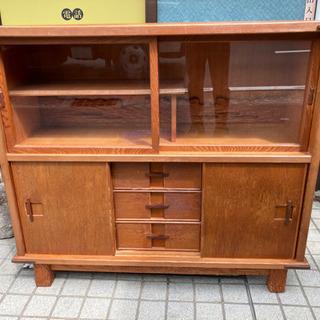 屋久杉 サイドボード リビングボード 茶箪笥 棚 木製 食…