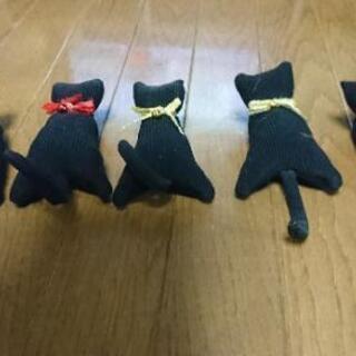 黒ネコちゃんクリップ&マグネット