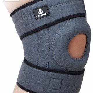 【未使用】左右兼用 QMU 膝サポーター スポーツ 膝当て ラン...