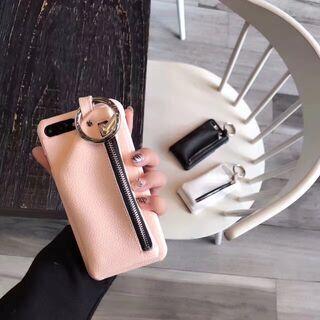 【新品】iPhoneX ケース フェイクレザー おしゃれ ピンク