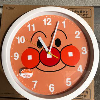 元気100倍!アンパンマン顔でかいリズム時計クオーツ式掛時計