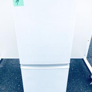 ✨高年式✨7番 シャープ✨ノンフロン冷凍冷蔵庫✨SJ-D14C-W‼️