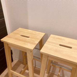【10月8日で他の方にお譲りします】IKEA カウンター チェア
