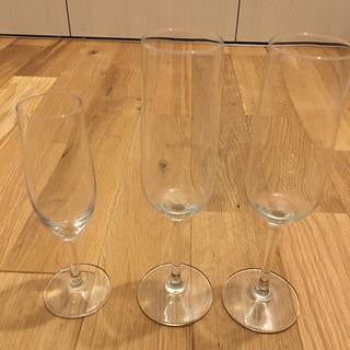 IKEAほか シャンパングラス3点セット