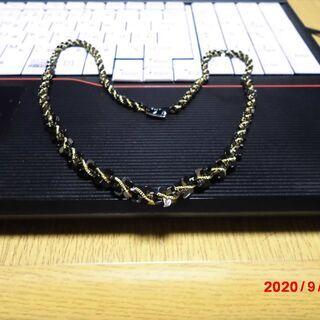 金黒編み ネックレス ,48cm、