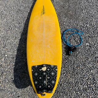 サーフボード  ショート 5'10 極美品 リーシュ フィン付