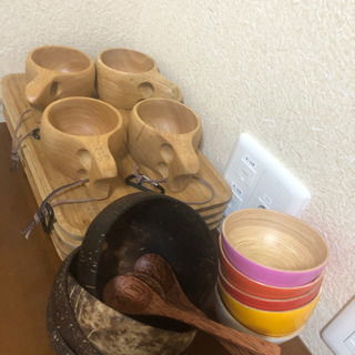 【ネット決済】木の食器セット 1500円