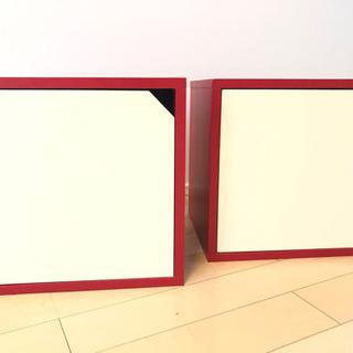 スツール2個セット 小物入れ 本棚 - 宇都宮市