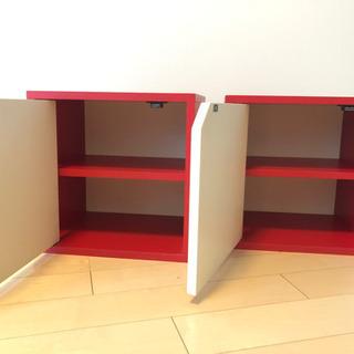 スツール2個セット 小物入れ 本棚の画像