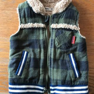 サイズ90 ベスト Bobson モフモフ 暖かい 子供 冬用