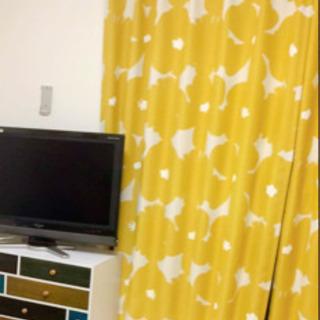 北欧 2級遮光カーテン 100×198 2枚セット