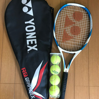 テニスラケット ラケットケース、ボール4つ付き