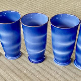有田焼 綺麗なコバルトブルーのコップ5個セット★