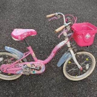 自転車 子供  幼児 小児 16インチ ピンク