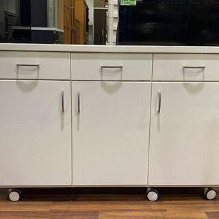【苫小牧バナナ】キッチンカウンター /サイドボード 収納家…