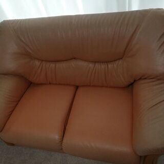 2人掛けソファあげます