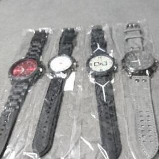 新品未使用 メンズアナログ腕時計4セット