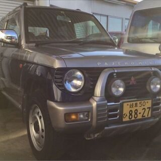 岐阜 三菱 パジェロミニ XR-II 4WD シルバー 走行11...