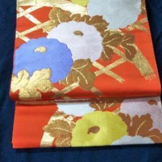 👘 正絹  昭和の 振袖用 袋帯 ★ 美品