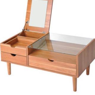 鏡面、収納付きテーブル (お譲り決まりました)