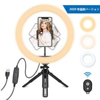 新品LEDリングライト Bluetoothリモコン付き③