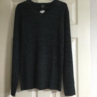 ◆Vネックメンズニットセーター、未使用品、Lサイズ