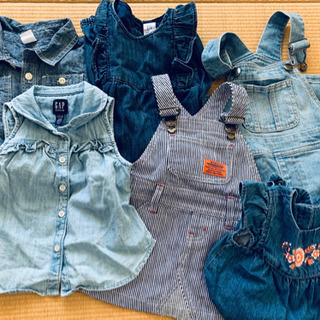 【お話し中】6着セット 女の子 デニム好きな方に 子供服 未着用品も