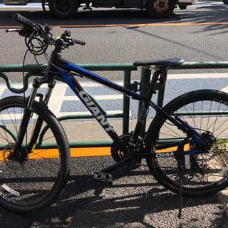 【ネット決済】GIANT マウンテンバイク 21速 ブラック ブルー