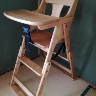 澤田木工所 木製 おりたたみハイ・ローチェア