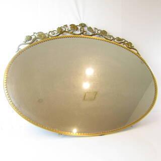 N1483・ アンティーク 鏡 壁掛け ウォールミラー 大型 楕...