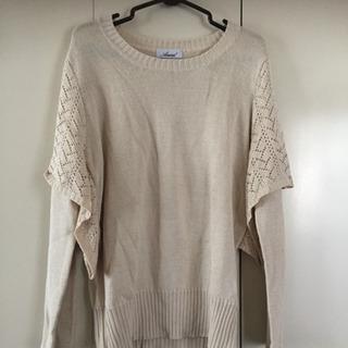 デザインニットセーター