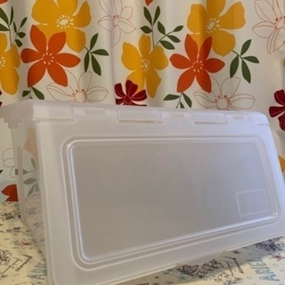 【美品】フタ開き収納ボックス(半透明)
