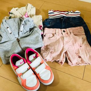 120〜130cmの女の子の服 スニーカー19cm