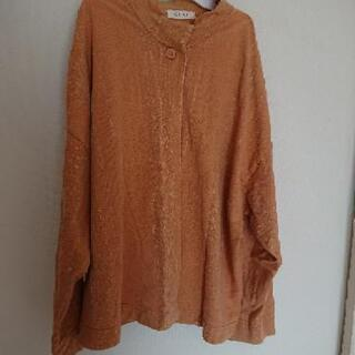 女性用  長袖  薄いオレンジ色