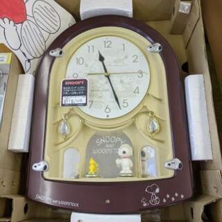 ♪未使用品!!可愛いスヌーピーの掛け時計 メロディ付き