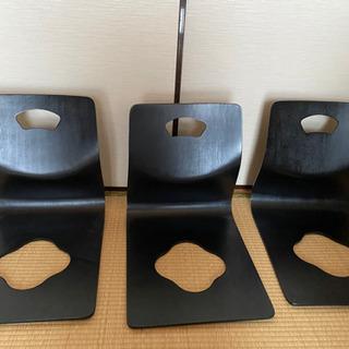 【ネット決済】木製座椅子☆3脚セット☆こたつ用☆ローテーブル用☆