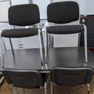 会議机 椅子 ミーティングテーブル イス 4脚セット💳自社…