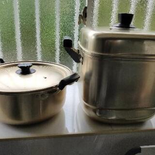 両手鍋、蒸し器