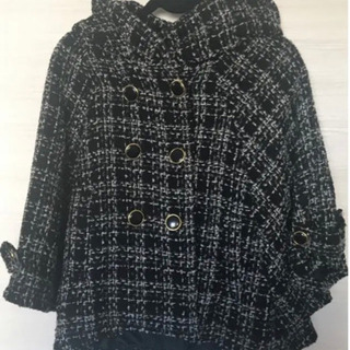 URBAN NOW  ポンチョ風 変形コート ブラック サイズL