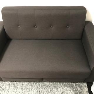 2人掛け引き出し付きソファ売ります。