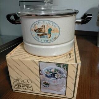 新品!深鍋兼用蒸し器