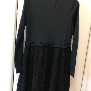 中古) GU 黒のワンピース サイズ150