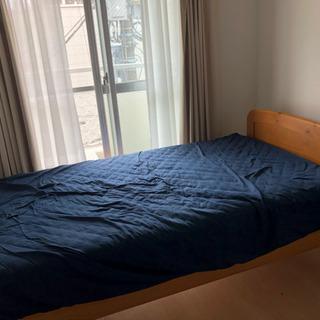 【10月7日までの短期掲載】高さ調節可能 シングルベッド